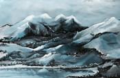 Blue Mountain Abstract