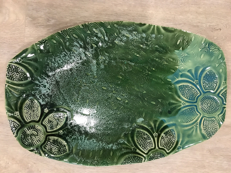 Long green bowl