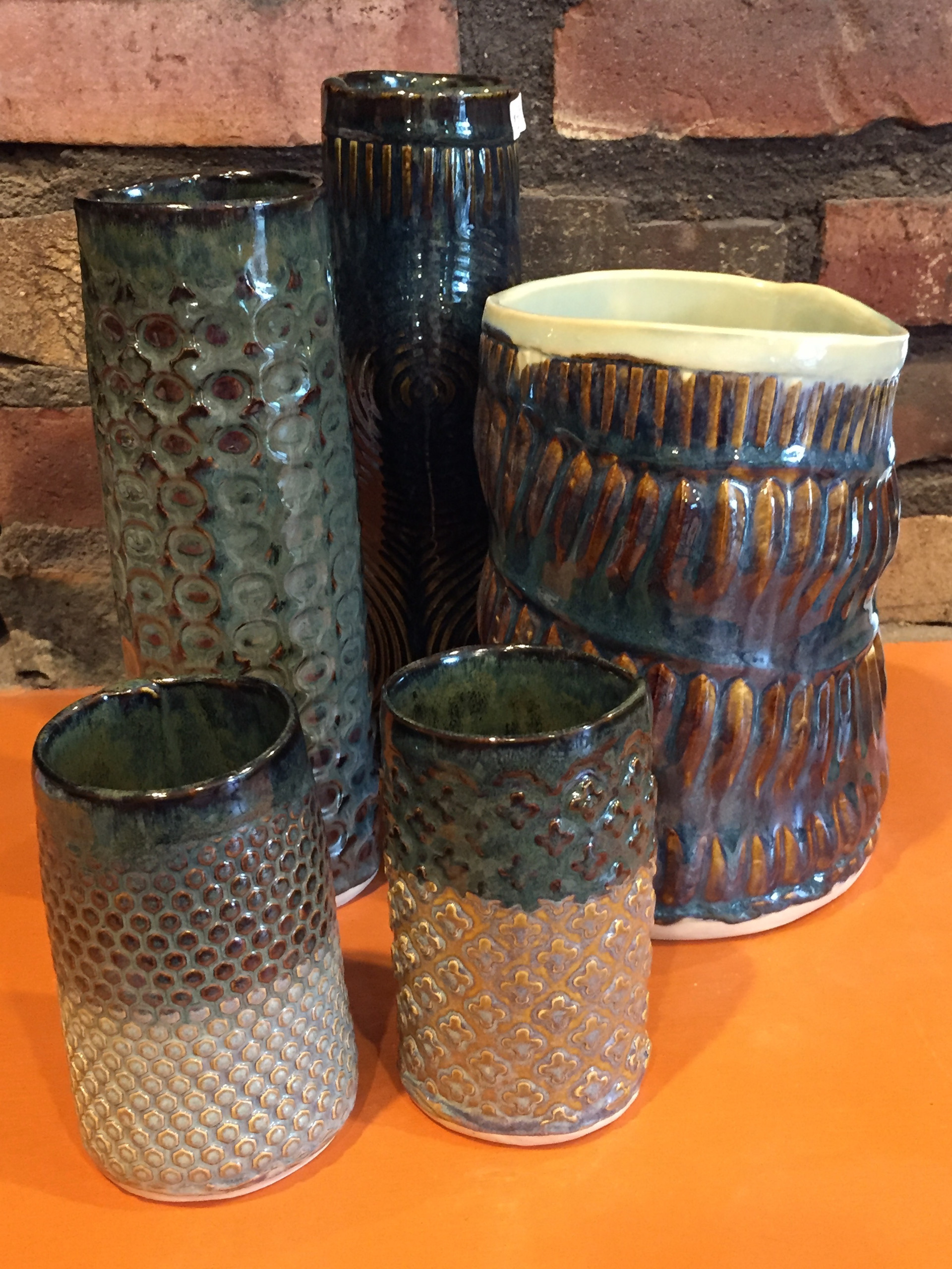 Patterned cups