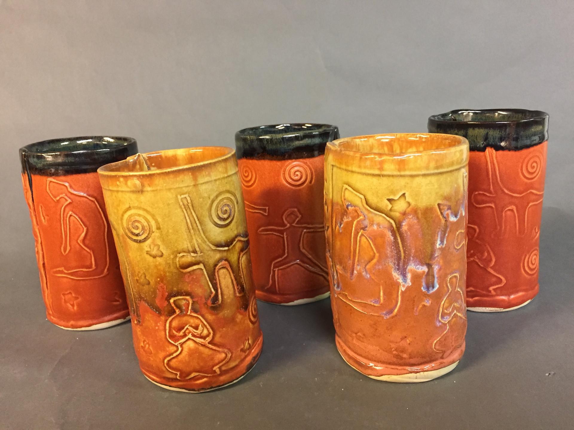 Warm toned Zen cups