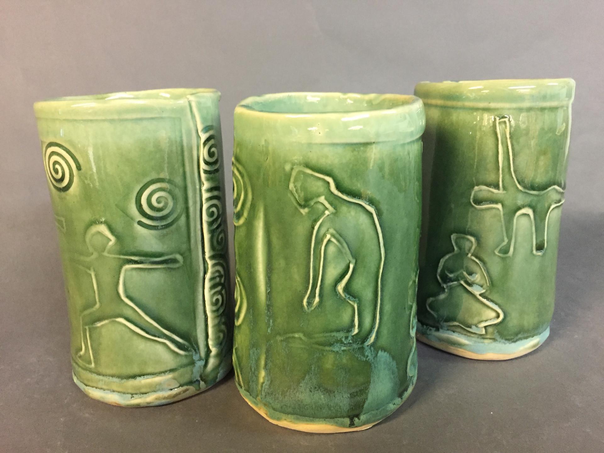 Green Zen cups