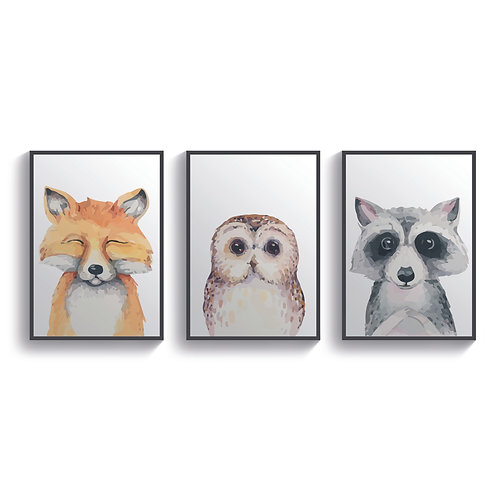 Set Of 3 Animal Friends