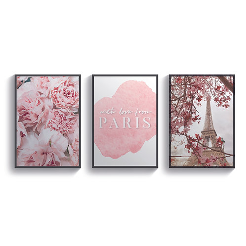 Set of 3 Paris Bloom