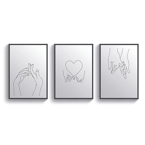 Hand in Hand Set of 3