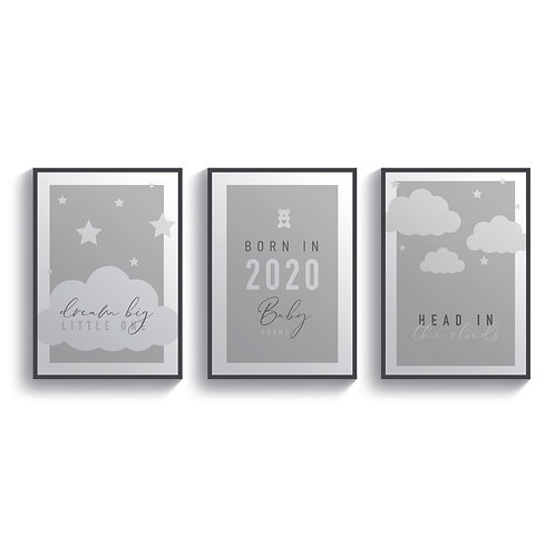 Set of 3 In The Clouds