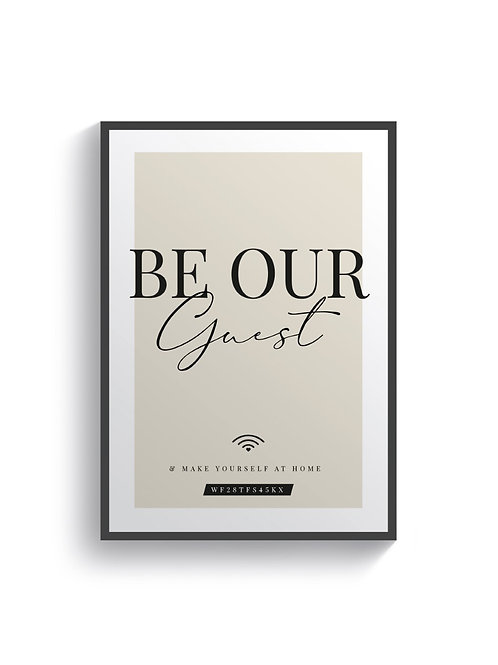 Be Our Guest WIFI (Personalised)