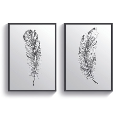 Set of 2 Feathers