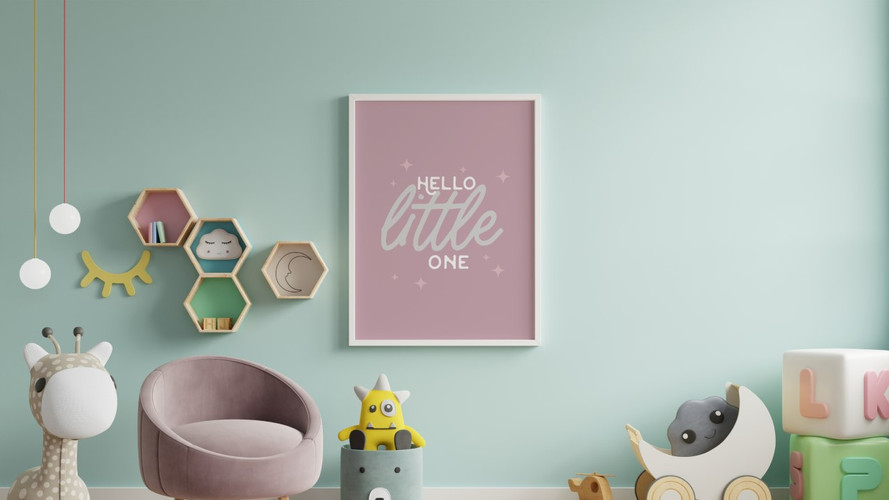 """""""Hello Little One"""" Wall Print"""