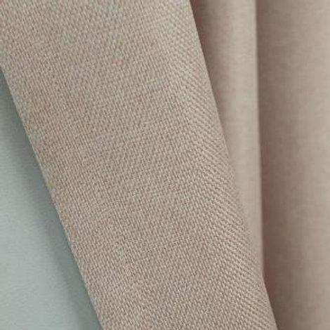 Ткань портьерная блэкаут рогожка бежевая (под лён) ширина: 2м 80 см
