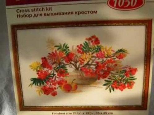 """Вышивка крестом """"Рябина"""", 1050 размер готовой работы: 55х35 см. Риолис"""