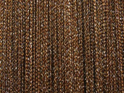 Штора нитяная коричневая с люрексом Elegant 150х270 см