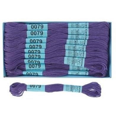"""Мулине """"Gамма"""" №0079 сине-фиолетовый (очень темный) х/б, 8м"""