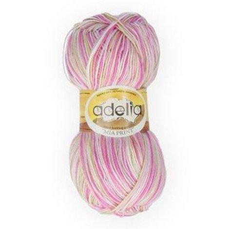 Adelia Mia print - 13 - розовый, салатовый 100г/307м