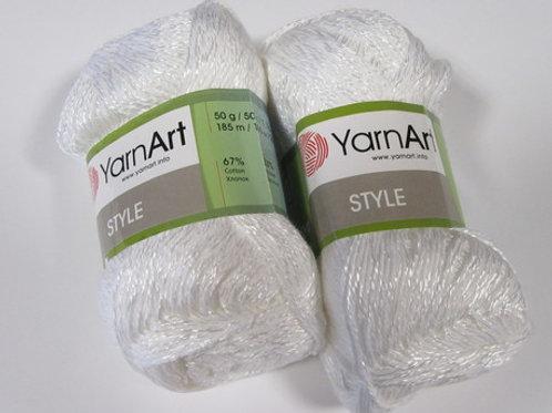 YarnArt stile  - 650 - белый 50г/185м