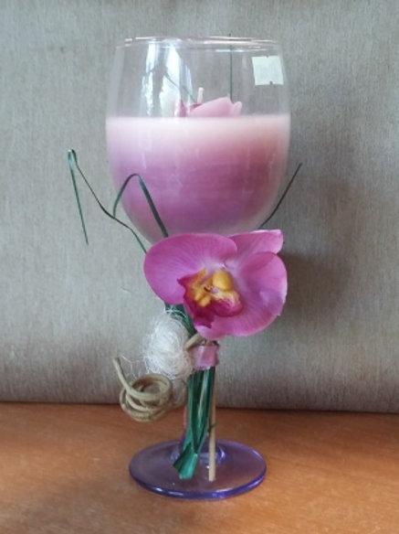 Свеча декоративная в фужере