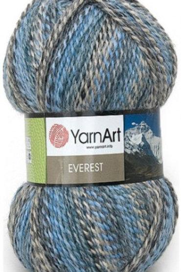 """YarnArt """"EVEREST""""-7030-серо голубой- серый- бежевый 200г/320м Турция"""