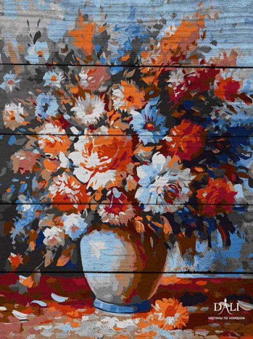 "Картины по номерам по дереву WВ 013 ""Весенний букет"" 40х50 см"