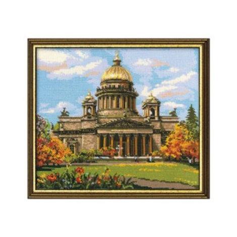 """Вышивка крестом """"Исаакиевский собор"""", 923 размер: 46х40 см. Риолис"""