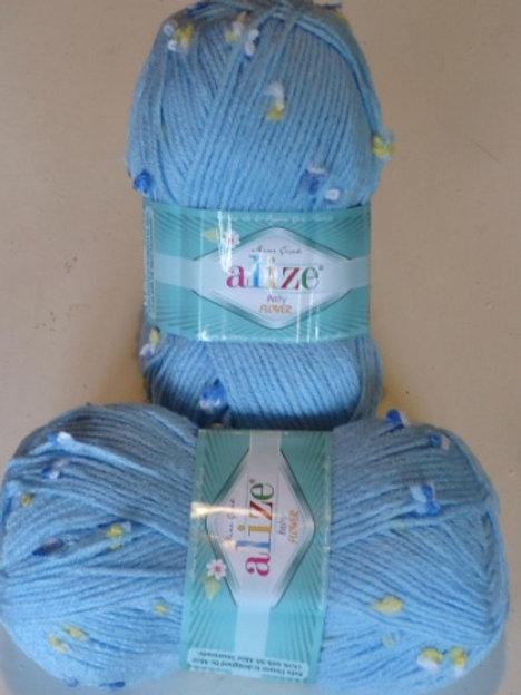 Alize baby flower 5435 пряжа для ручного вязания 100г/200м. Турция