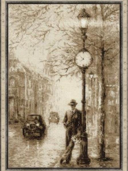 """Вышивка крестом """"Старая фотография. Ожидание"""", 1611"""