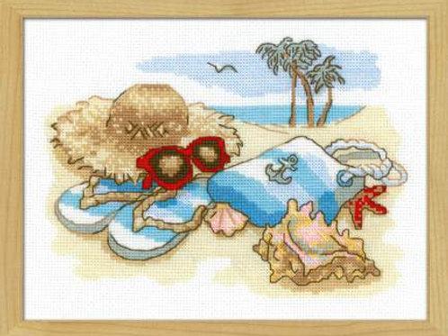 """Вышивка крестом """"Отдых на море"""" размер работы:24х18 см. Риолис"""