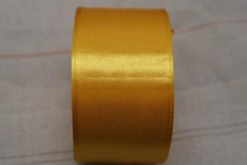 Атласная лента 50мм, цвет: №017(тёмно жёлтый), Гамма