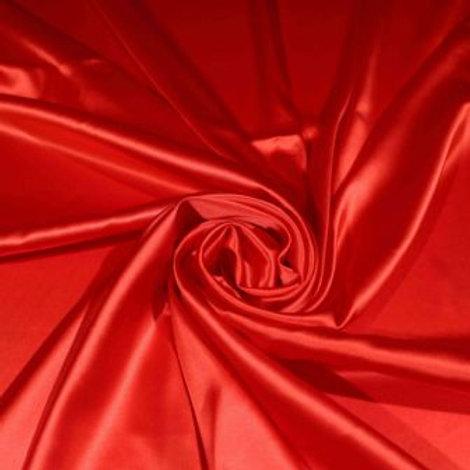 Ткань Атлас стрейч метражём. Ширина 1,45 м. Цвет: красный.