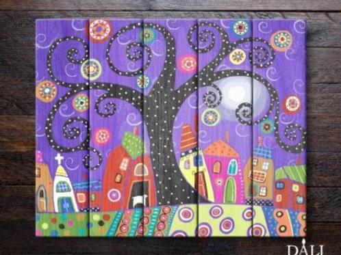 """Картины по номерам по дереву WS019 """"Кудрявое дерево """" 40х50 см"""