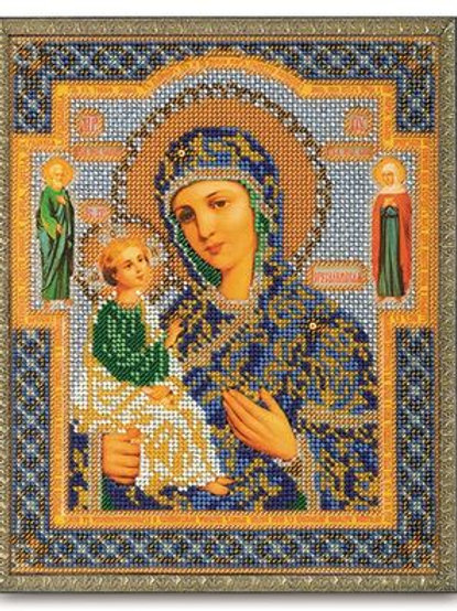 """Вышивка бисером """"Иерусалимская Богородица"""", В-164 размер: 20х24 см. Радуга бисер"""