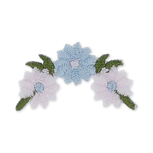 "Аппликации ""Annet"" на клеевой основе 1-308A букет розов/голубой 3.3х1.5"
