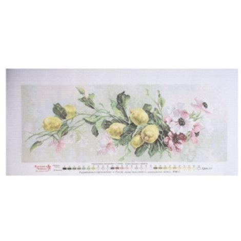 """Рисунок на канве для вышивания """"Лимонный вальс"""", 1819 размер: 30х80 см."""