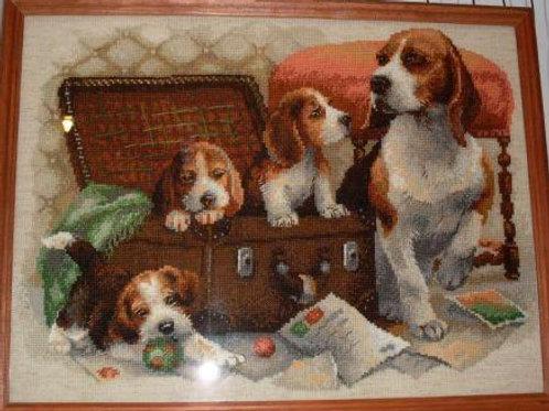 """Вышивка крестом """"Собачье семейство"""", 1328"""