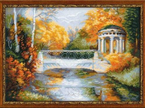 """Вышивка крестом """"Осенний парк"""" 1195, размер работы: 40х30 см. Риолис"""