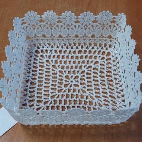 Сухарница плетёная (16х16х7 см) КС-33419