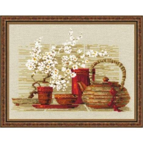 """Вышивка крестом """"Чай"""", размер готовой работы: 30х24 см. Риолис"""