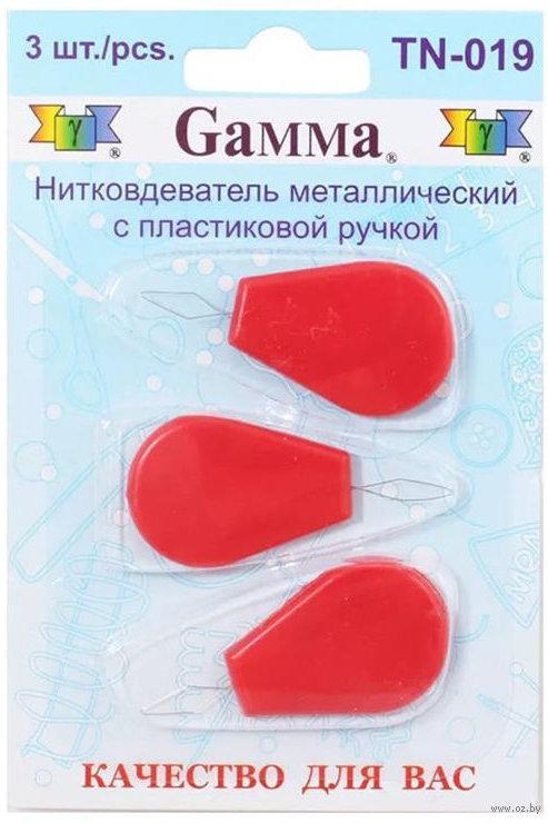 """""""Gamma"""" Нитковдеватель TN-019 3 шт с пластиковой ручкой"""