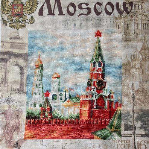 """Вышивка крестом """"Москва"""", РТ-0021 размер готовой работы: 30х40см. Риолис"""