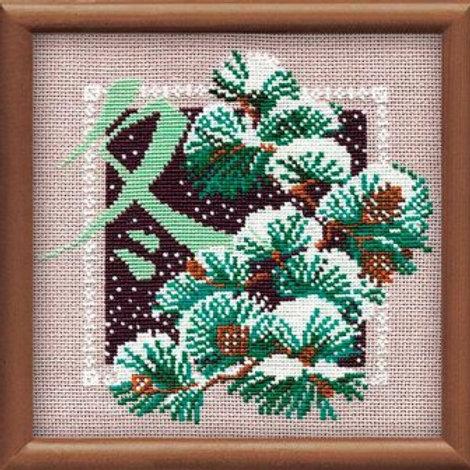 """Вышивка крестом """"Зима"""", 814 размер готовой работы: 20х20см. Риолис"""