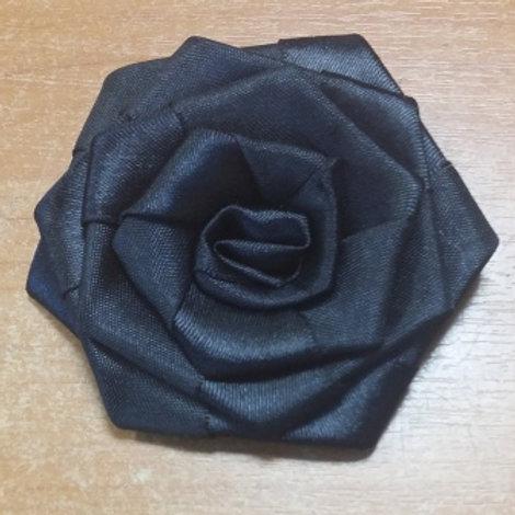 """Украшение """"Роза"""" размер: 8х8 см. цвет: чёрный, полиэстр 100%"""