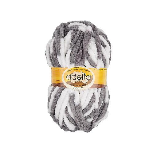 Adelia  Dolly, 15 бело-серый, 100 г/40м, полиэстр 100%