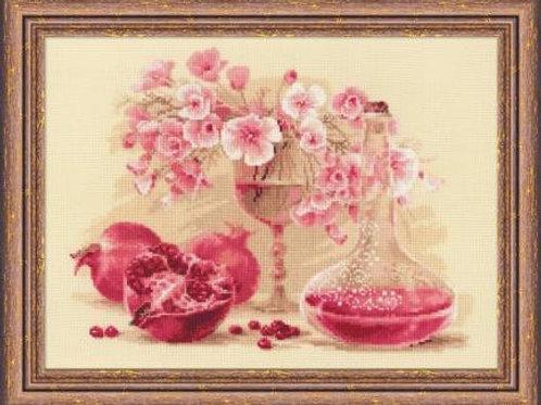 """Вышивка крестом """"Розовый гранат"""", 1618"""