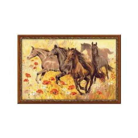 """Вышивка крестом """"Табун лошадей"""", 1064"""