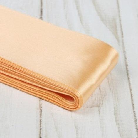 Атласная лента 50мм, цвет: №006 (светло персиковый), Гамма