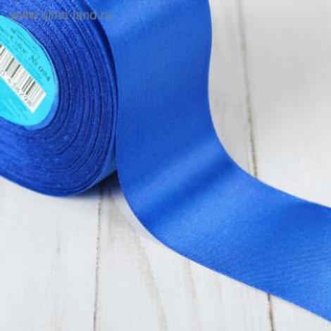 Атласная лента 50мм, цвет: №094( синий), Гамма