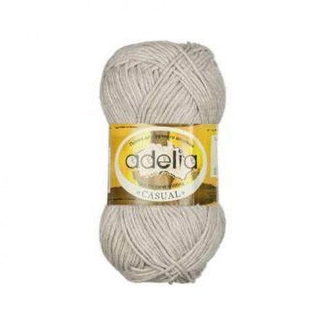Adelia Casual-02-белый, 50г/130м, 72% хлопок, 28% акрил