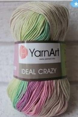 YarnArt ideal crazy  - 4206 - кремовый, салатовый, сиреневый, фиолетовый 50г/170