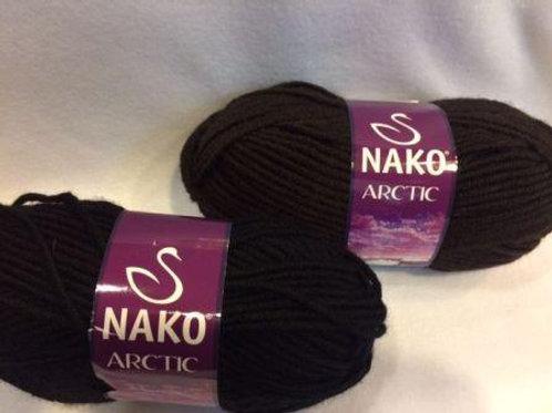 NAKO Аrctik -6052-чёрный 100г/100м  20%шерсть 80%акрил