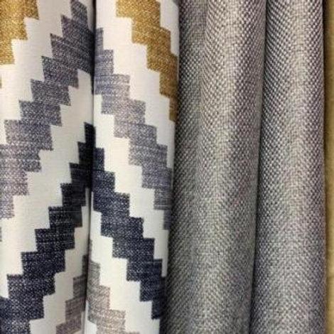 Ткань для портьер блэкаут двухсторонняя рогожка зиг-заг ширина: 2м 80см