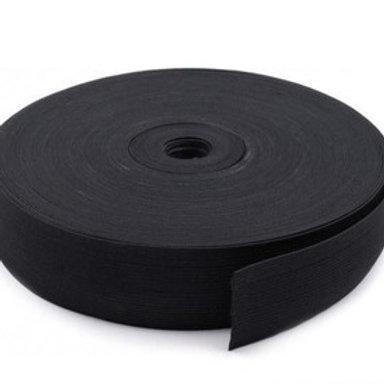 Лента эластичная  чёрная 20 мм