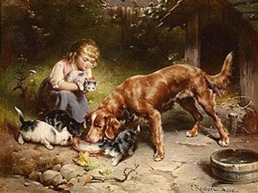 Девушка с животными